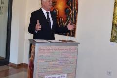 """Vernissage der Ausstellung """"Kunst in Kamerun"""" in der Stadtverwaltung Worms, 2.5.29016, OB Michael Kissel"""